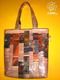Comics Bag, Borsa Shopper con fumetti #soreadystyle #riciclo