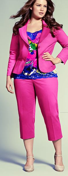Love this outfit from Lane Bryant! Ooooh, the colors!