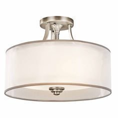 Furniture & Furnishing Flush Mount Ceiling Lights Living Room Lighting Bedroom Accessories Decorating Patio Furniture Interior Traditional Style Flush Mount Ceiling Light Kichler Lacey 3 Light Flush Mount Interior Lights Design