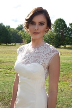 Perfect hair. Perfect makeup. Perfect dress. Perfect bride.  Hair | Lacy West, Makeup | Sara King, Photo Credit | Alicia Katy Photography