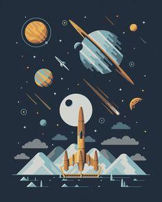 "OMG Posters!  » Archive  ""Explorers Club: Rocketeer Series"" Art Prints by DKNG"