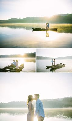 Sunrise at the beautiful Lake Tamblingan