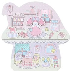 My Melody Deluxe Sticky Notes: House My Melody Wallpaper, Hello Kitty Wallpaper, My Melody Sanrio, Cute Posts, Office Stationery, Sticky Notes, Kids Rugs, Sweets, Japan