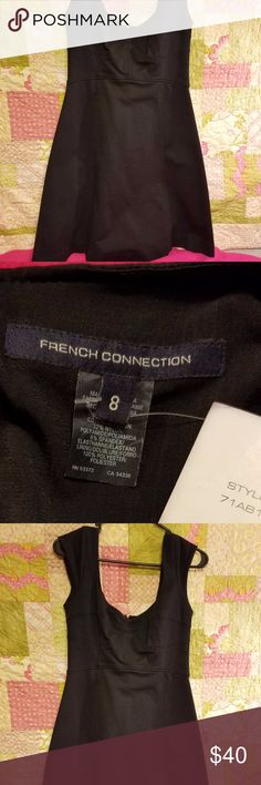 French Connection brand Black Dress NWT Black French Connection Cap Sleeve A line Dress Size 8 French Connection Dresses Asymmetrical