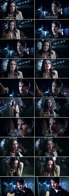 This conversation definitely freaked me out. Emma never hurt anyone more than emotionally as the Dark One. She still had a very good grasp on the light within her, but Killian gave into the darkness almost immediately. He became very violent, unafraid to hurt anyone or stop them from getting in his way. After all, he sentenced all of Emma's dearest friends and family to the underworld. As the Dark One, he was all revenge and torture. His methods were physical while Emma manipulated emotions.