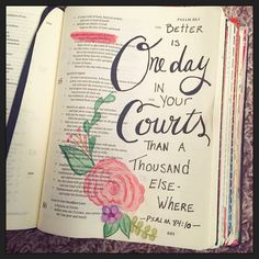 Bible Journaling, My Own Work Psalm 84:10