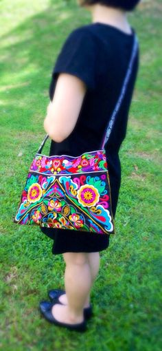 A personal favourite from my Etsy shop https://www.etsy.com/sg-en/listing/237912530/boho-embroidery-hmong-floral-cross-body