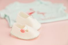 Felt baby booties. Make them now with the Cricut Explore machine in Cricut Design Space.
