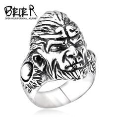 Stainless Steel Ring 2017 New the monkey king Jewelry Wholesale Factory Price Sun Wukong man`s ring Animal Jewerly BR8-195 #Affiliate