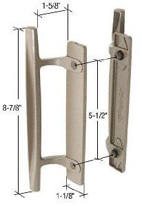 "Stone 8-7/8"" Sliding Glass Door Handle Set; 1-5/8"" Projection for Andersen Doors by C.R. Laurence. $100.99. C.R. LAURENCE C1247 CRL Stone 8-7/8"" Sliding Glass Door Handle Set; 1-5/8"" Projection for Andersen. This CRL Handle Set is made of diecast inside and out pull handles. The handle is non-handed and is designed to fit doors by Andersen. One inside and outside pull with fasteners per package.. Part Numbers Variations: C1247"