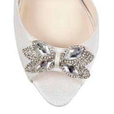 No. 1 Jenny Packham Designer silver jewel high court shoes- at Debenhams.com