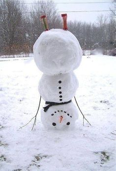 Upside-down snowman, i so want to make this