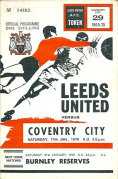 Leeds Utd 2 Swansea T 1 in Jan 1970 at Elland Road. The programme cover for the FA Cup Round clash. Leeds United Fc, Liverpool Fc, Manchester United, Messi, Dynamo Dresden, Coventry City Fc, Derby County, Stoke City, Finals
