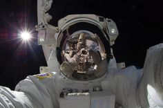 """Your """"selfie"""" in the bathroom doesn't impress this Astronaut.  FUND NASA AGAIN! But technology like the cell phones aren't important I guess..."""
