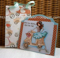 tag and matching giftbag stamping bella stamp by Blankina
