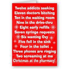Hilarious Pharmacy Christmas Card