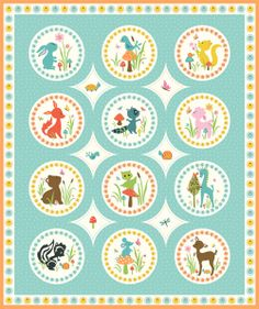 'Woodland Tails' is a super cute new fabric collection designed by Sherri McCulley for Riley Blake.