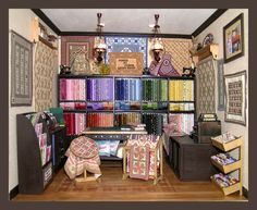 Piece By Piece Quiltshop Roombox By Cynthia Howe Dollhouse Miniatures