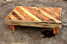 """A friend needed a rustic table. and of course, pallet were perfects for that. [symple_toggle title=""""More information"""" state=""""closed""""] Submitted by: Johann Hübner ! [/symple_toggle]"""