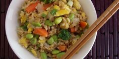 Edamame & Veggie Fried Brown Rice
