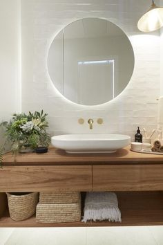 Home Decor Entryway 5 bathroom trends about to be huge according to The Block - . Home Decor Entryway 5 bathroom trends about to be huge according to The Block - Vogue Australia Laundry In Bathroom, Small Bathroom, The Block Bathroom, Light Up Bathroom Mirror, All White Bathroom, Rental Bathroom, Tropical Bathroom, Shiplap Bathroom, White Bathrooms