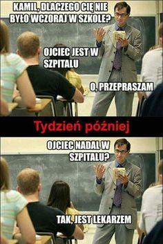 Trendy w kategoriach humor w tym tygodniu - Poczta Wtf Funny, Funny Cute, Funny Images, Funny Pictures, Polish Memes, Sad Texts, Weekend Humor, Funny Mems, Donia