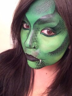 Face Painting - Make Believe Face Painting snake dragon lizard