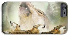 Wolf Moon Rising on a phone case, featuring the art of Carol Cavalaris. Art Phone Cases, Wolf Moon, Moon Rise, Iphone, Prints, Animals, Painting, Animales, Animaux
