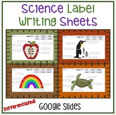 A set of 18 different label sheets to fit in with your science units of study for early elementary. Designed for google slides, and differentiated to meet student needs, these label sheets will integrate writing into your science topics. Science Resources, Science Lessons, Science Activities, Science Topics, Classroom Resources, Animal Classification, Fifth Grade, Teaching Materials