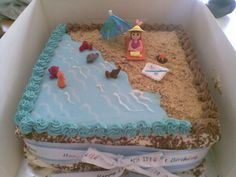 beach birthday cake Emilys Beach Birthday Cake side view elle