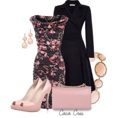"love this set, really pretty dress and coat, and i LOVE those shoes -- ""Phase 8-Patterned Dresses"" by coco-cris-1 on Polyvore"