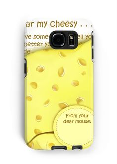 'Cheesy News: Have Something to Tell?' Case/Skin for Samsung Galaxy by We ~ Ivy Laptop Skin, Ipod Touch, To Tell, Ipad Case, Tech Accessories, Laptop Sleeves, Ivy, Samsung Galaxy, Phone Cases