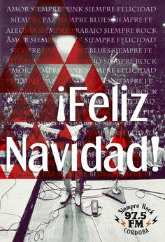 Flyer Feliz Navidad  Siempre Rock 97.5 FM.  Córdoba, 2011.