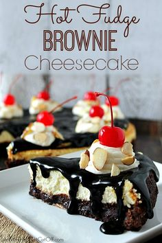 Hot Fudge Brownie Cheesecake by Life with the Crust Cut Off