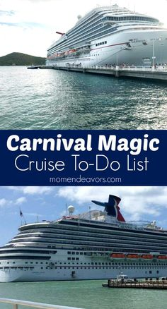 Carnival Magic Cruise To-Do List - a fun list of things to do on the Carnival Magic.