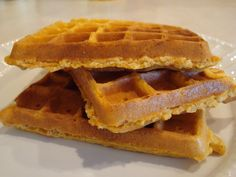 Bisquick Pumpkin Waffles (or Pancakes)    Using Bisquick is a semi-homemade trick, but they taste like they are from scratch.  In place of all the spices, I just use 3 tsp pumpkin pie spice.  What's more, the batter doubles as a pancake batter.  My husband asks me to make these many times during fall and winter.