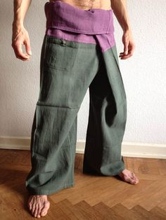 Olive Raw Cotton Thai Fisherman Pants - For more information about #Bindidesigns products, please visit: BindiDesigns.eu