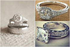 Picking the Perfect Engagement Ring - the one on the bottom right is EVERYTHING!