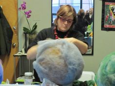 "Making 3-D Felt Vessels Using Beth Beede's ""Felting Over A Ball"" Technique - B. Felt: Exquisitely Crafted Wool Felt Fashions"