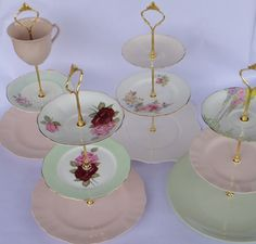 How to make 3 Tier Vintage Wedding Cup Cake Stand DIY Fitting Instructions