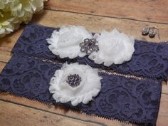 Wedding Garter  Garter  Purple Garter  by BloomsandBlessings