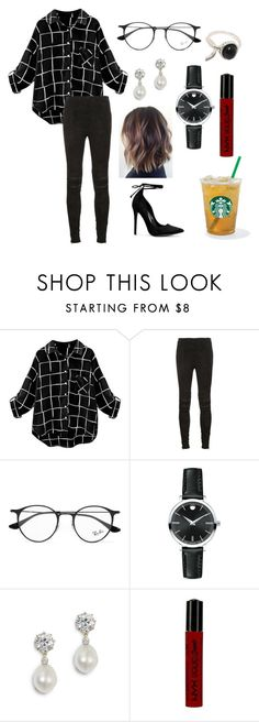 """Untitled #321"" by fashion-with-dudette on Polyvore featuring Yves Saint Laurent, Ray-Ban, Movado, NYX, men's fashion and menswear"