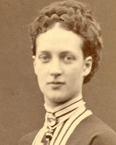 A fabulous close up of Princess Alexandra of Wales, later Queen of Great Britain. 1860s.