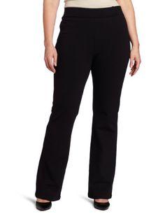 9286c192 NYDJ Women's Plus-Size Belinda Ponte Bootleg Pant, Black, 14W * Read more