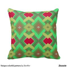 Unique colorful pattern throw pillows