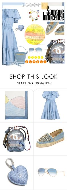 """A bright day today..."" by pilpanher ❤ liked on Polyvore featuring Vince Camuto, Chanel, René Caovilla, Etienne Aigner, Ray-Ban and Dolce&Gabbana"