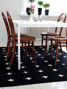 Via Ica Carlsson | Em Mobler Plus Rug | Black and White