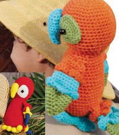 Crochet Parrot- Charlotte wants this