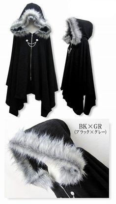 Harajuku Gothic Lolita Vampire Cloak Coat Hoodie Punk Jacket Shawl Cool Black #Q | Clothing, Shoes & Accessories, Women's Clothing, Coats & Jackets | eBay!