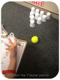 What the Teacher Wants!: Subtraction Bowling. It would work for fractions, too!